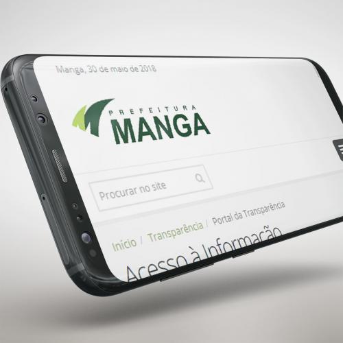 Site da Prefeitura de Manga - MG